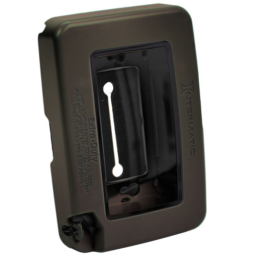 Low-Profile Extra-Duty Plastic In-Use Weatherproof Cover, Single-Gang, Vrt/Hrz, Bronze redirect to product page