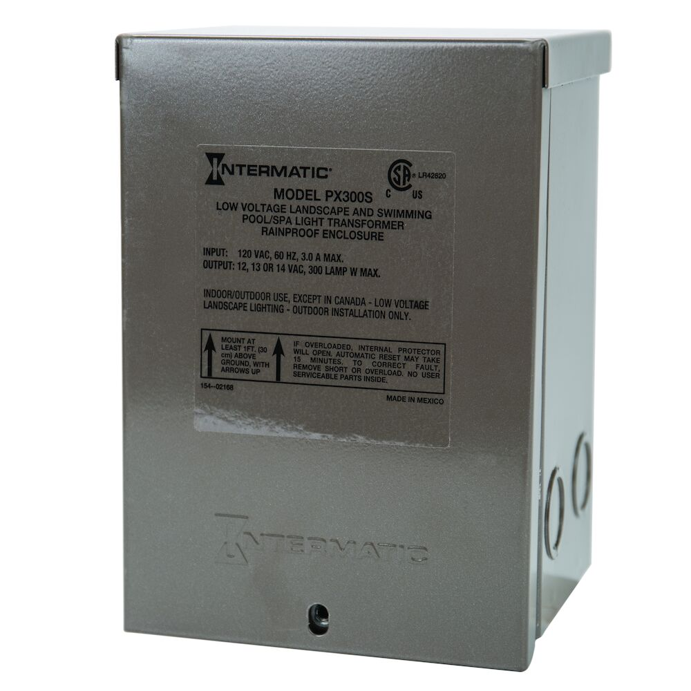 300 W Pool & Spa Safety Transformer, Stainless Steel Enclosure, Input 120V, Output 12,13,14 V redirect to product page