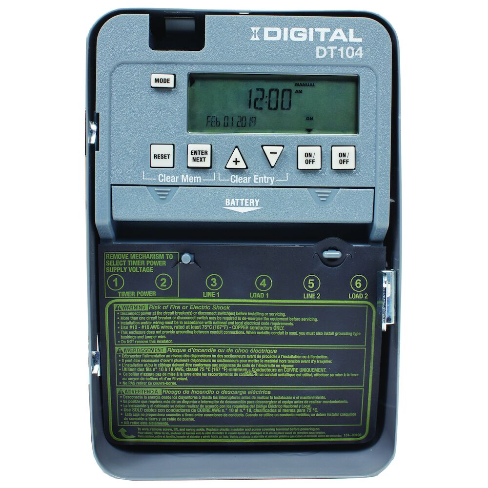 24-Hour 2-Circuit Electronic Control, 120-277 VAC, 60 Hz, 2-SPST, Indoor Metal Enclosure redirect to product page