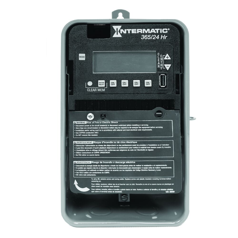 24-Hour/365 Day 4-Circuit Electronic Control, 120-277 VAC, 60 Hz, 4-SPST/2-DPST, Outdoor Metal Enclosure redirect to product page