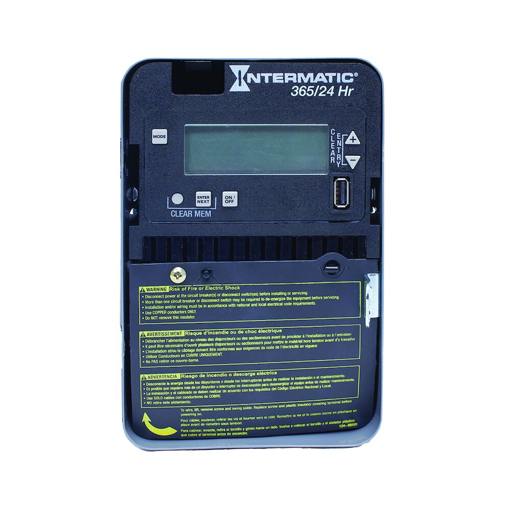24-Hour/365 Day 1-Circuit Electronic Control, 120-277 VAC, 60 Hz, SPST, Indoor Metal Enclosure redirect to product page