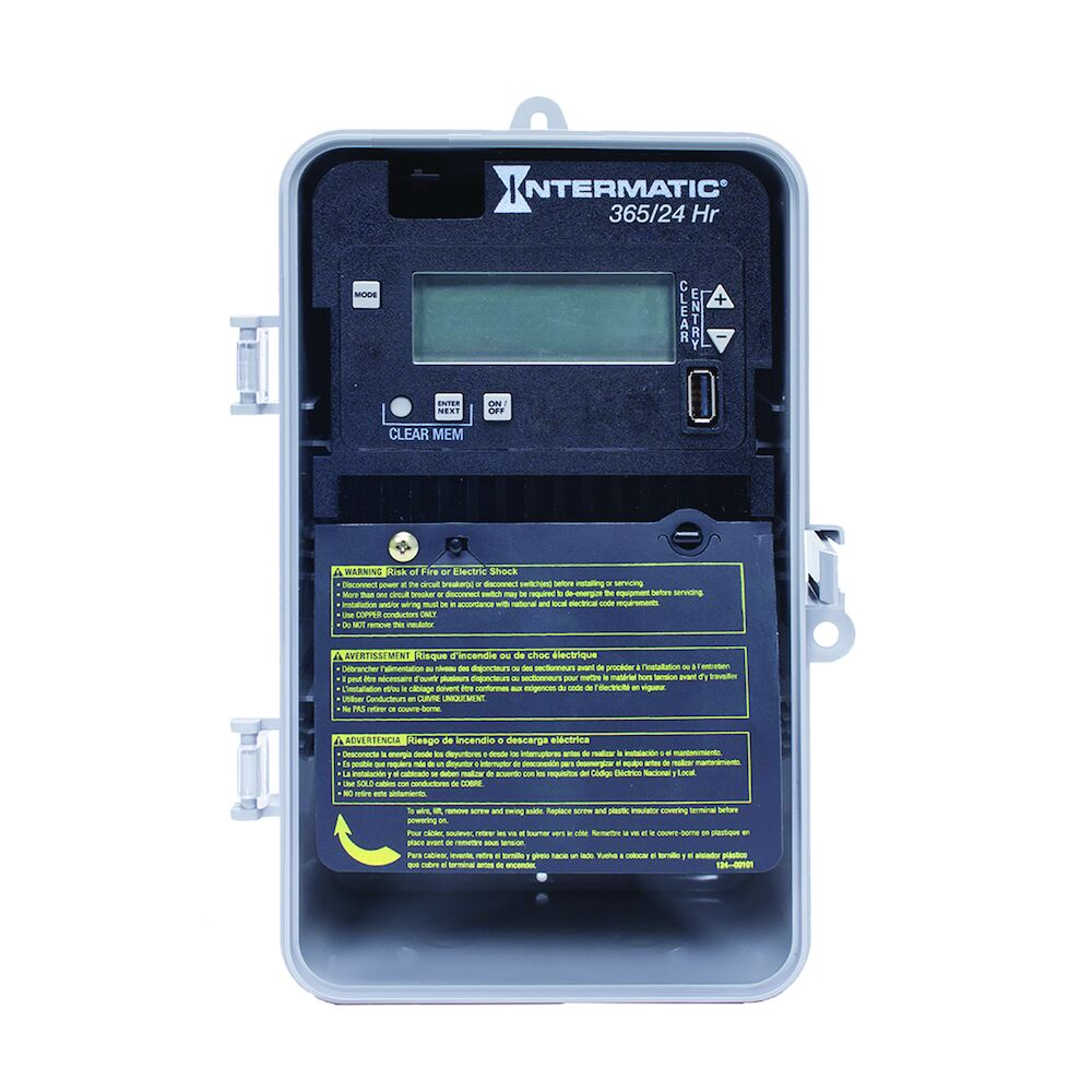 24-Hour/365 Day 1-Circuit Electronic Control, 120-277 VAC, 60 Hz, SPST, Indoor/Outdoor Plastic Enclosure redirect to product page