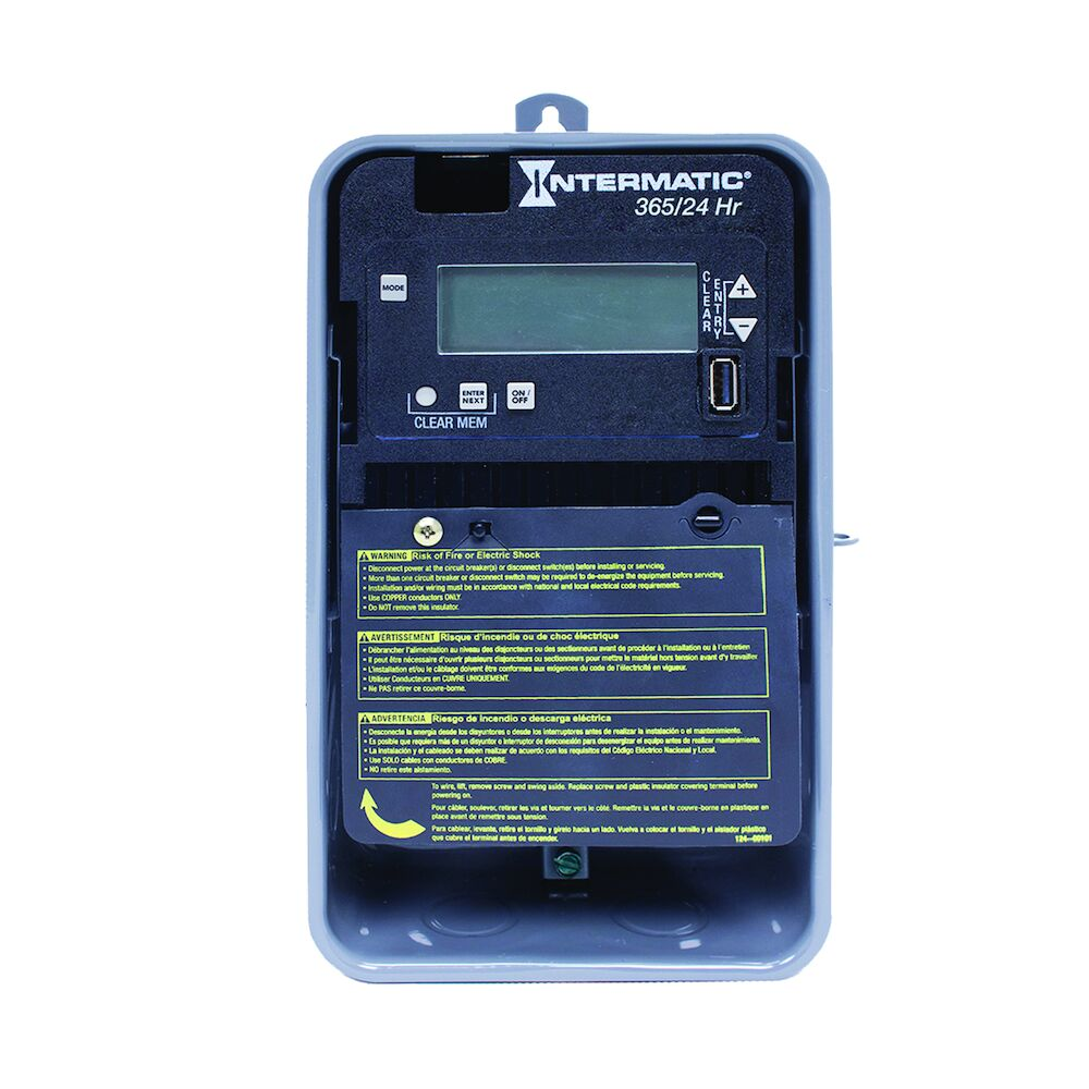 24-Hour/365 Day 1-Circuit Electronic Control, 120-277 VAC, 60 Hz, SPST, Outdoor Metal Enclosure redirect to product page