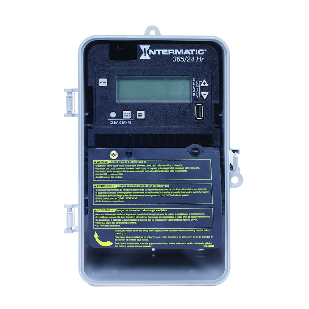 24-Hour/365 Day 1-Circuit Electronic Control, 120-277 VAC, 60 Hz, SPDT, Indoor/Outdoor Plastic Enclosure redirect to product page