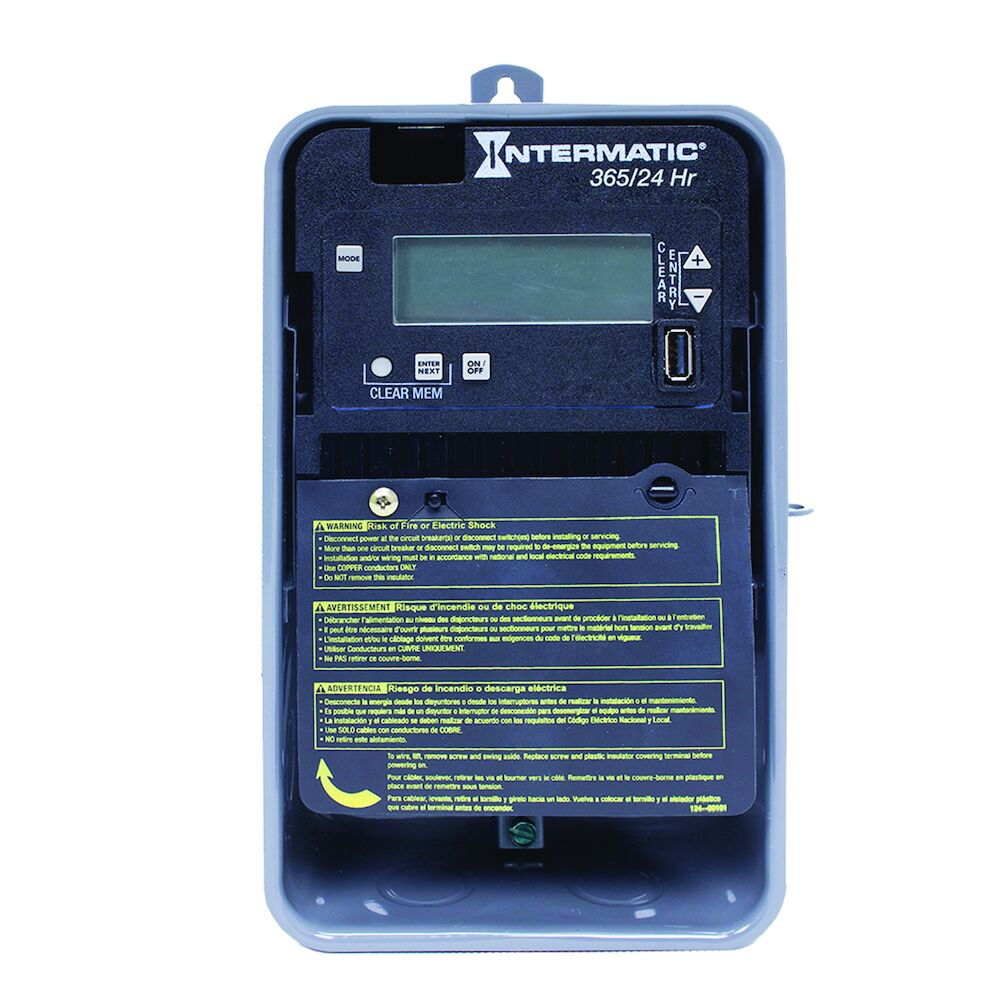 24-Hour/365 Day 1-Circuit Electronic Control, 120-277 VAC, 60 Hz, SPDT, Outdoor Metal Enclosure redirect to product page