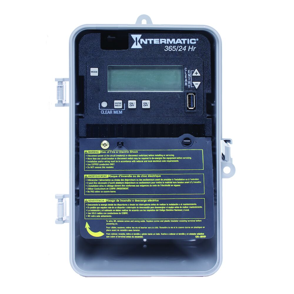 24-Hour/365 Day 2-Circuit Electronic Control, 120-277 VAC, 60 Hz, 2-SPST/DPST, Indoor/Outdoor Plastic Enclosure redirect to product page