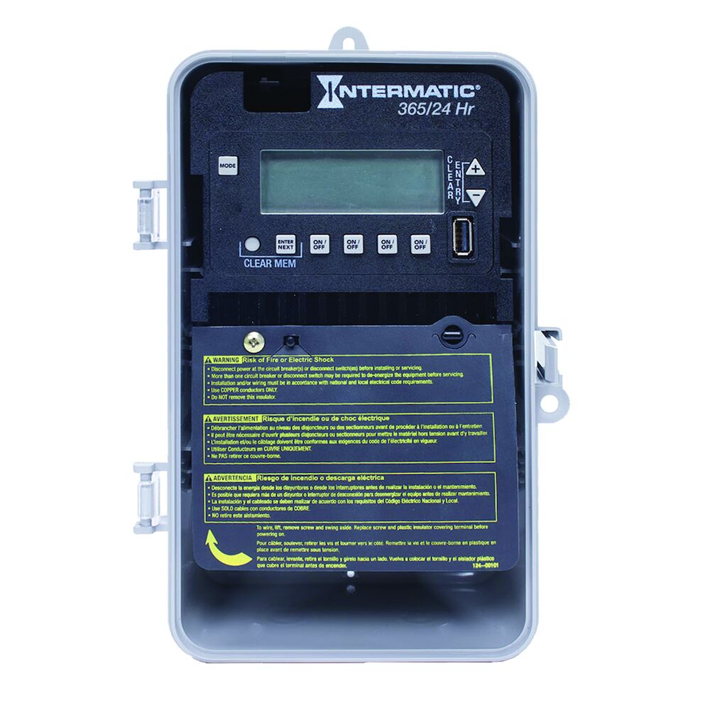24-Hour/365 Day 4-Circuit Electronic Control, 120-277 VAC, 60 Hz, 4-SPST/2-DPST, Indoor/Outdoor Plastic Enclosure redirect to product page