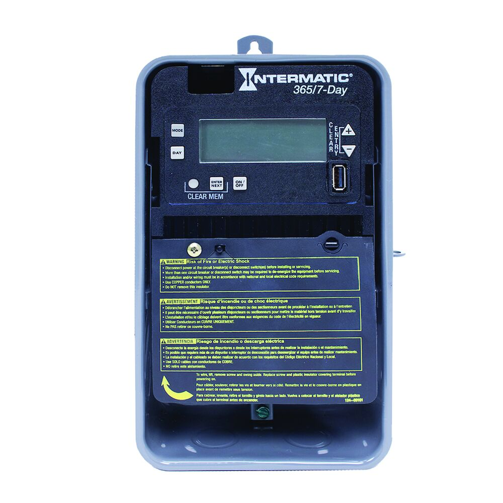 7-Day/365 Day 1-Circuit Electronic Control, 120-277 VAC, 60 Hz, SPST, Outdoor Metal Enclosure redirect to product page