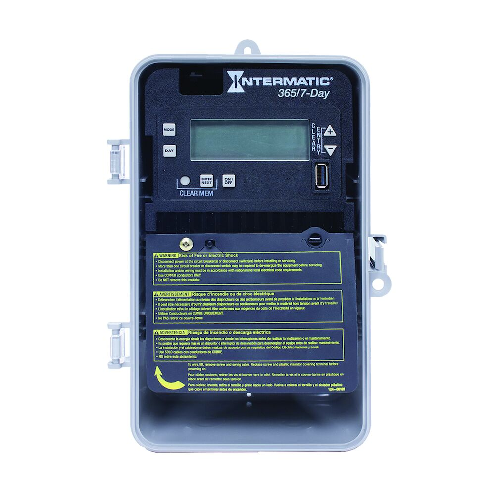 7-Day/365 Day 1-Circuit Electronic Control, 120-277 VAC, 60 Hz, SPDT, Indoor/Outdoor Plastic Enclosure redirect to product page