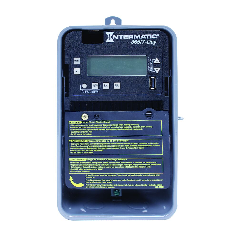 7-Day/365 Day 2-Circuit Electronic Control, 120-277 VAC, 60 Hz, 2-SPST/DPST, Outdoor Metal Enclosure redirect to product page