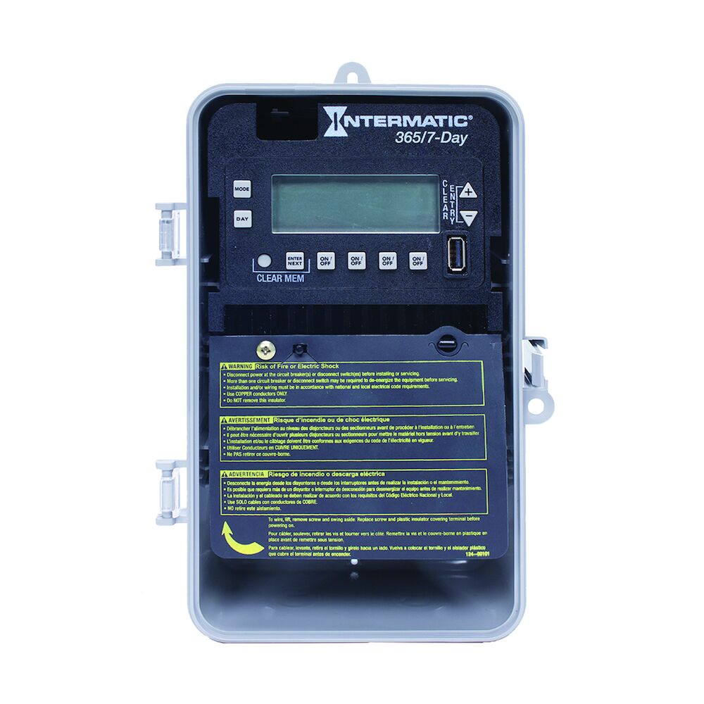 7-Day/365 Day 4-Circuit Electronic Control, 120-277 VAC, 60 Hz, 4-SPST/2-DPST, Indoor/Outdoor Plastic Enclosure redirect to product page