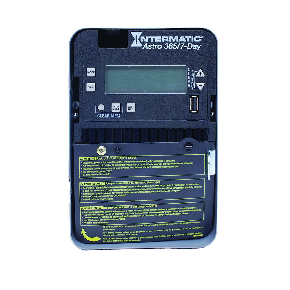 Astronomic 7-Day/365 Day 1-Circuit Electronic Control, 120-277 VAC, 60 Hz, SPST, Indoor Metal Enclosure redirect to product page