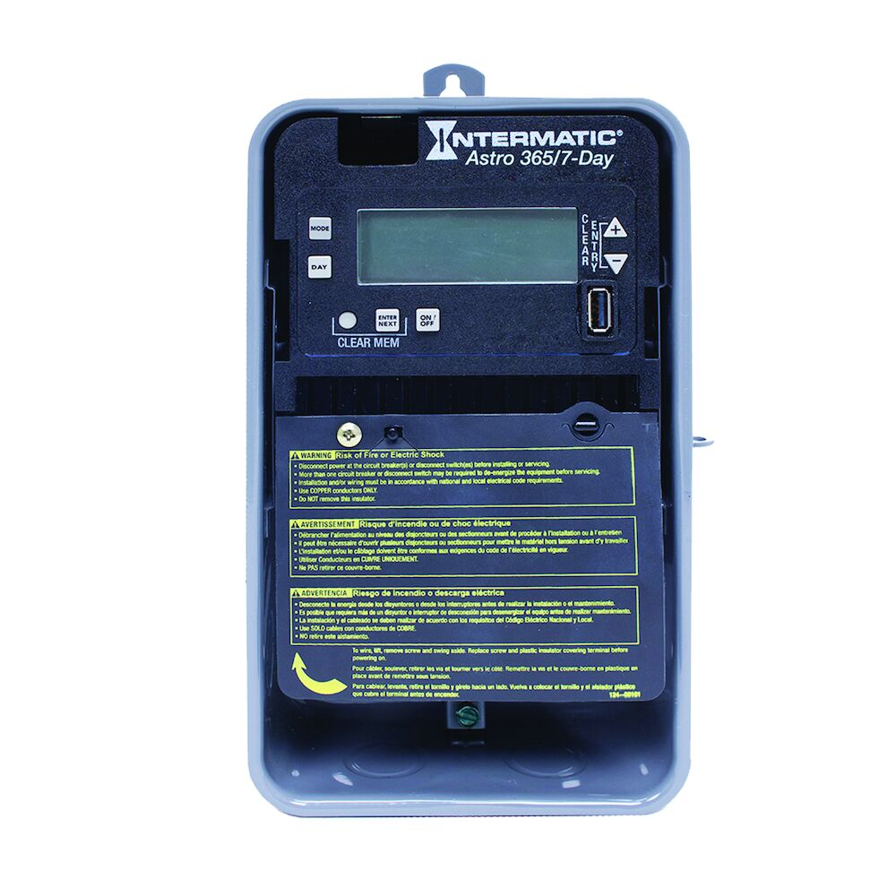 Astronomic 7-Day/365 Day 1-Circuit Electronic Control, 120-277 VAC, 60 Hz, SPST, Outdoor Metal Enclosure redirect to product page