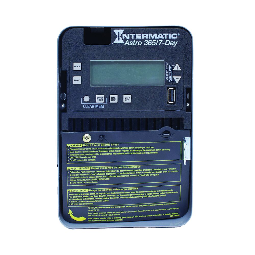 Astronomic 7-Day/365 Day 2-Circuit Electronic Control, 120-277 VAC, 60 Hz, 2-SPST/DPST, Indoor Metal Enclosure redirect to product page