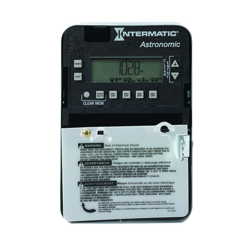 Astronomic 7-Day/365 Day 4-Circuit Electronic Control, 120-277 VAC, 60 Hz, 4-SPST/2-DPST, Indoor Metal Enclosure redirect to product page
