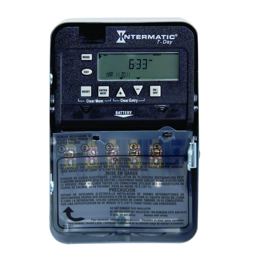 7-Day 1-Circuit Electronic Control, 120-277 VAC, 60 Hz, SPDT, Indoor Metal Enclosure redirect to product page