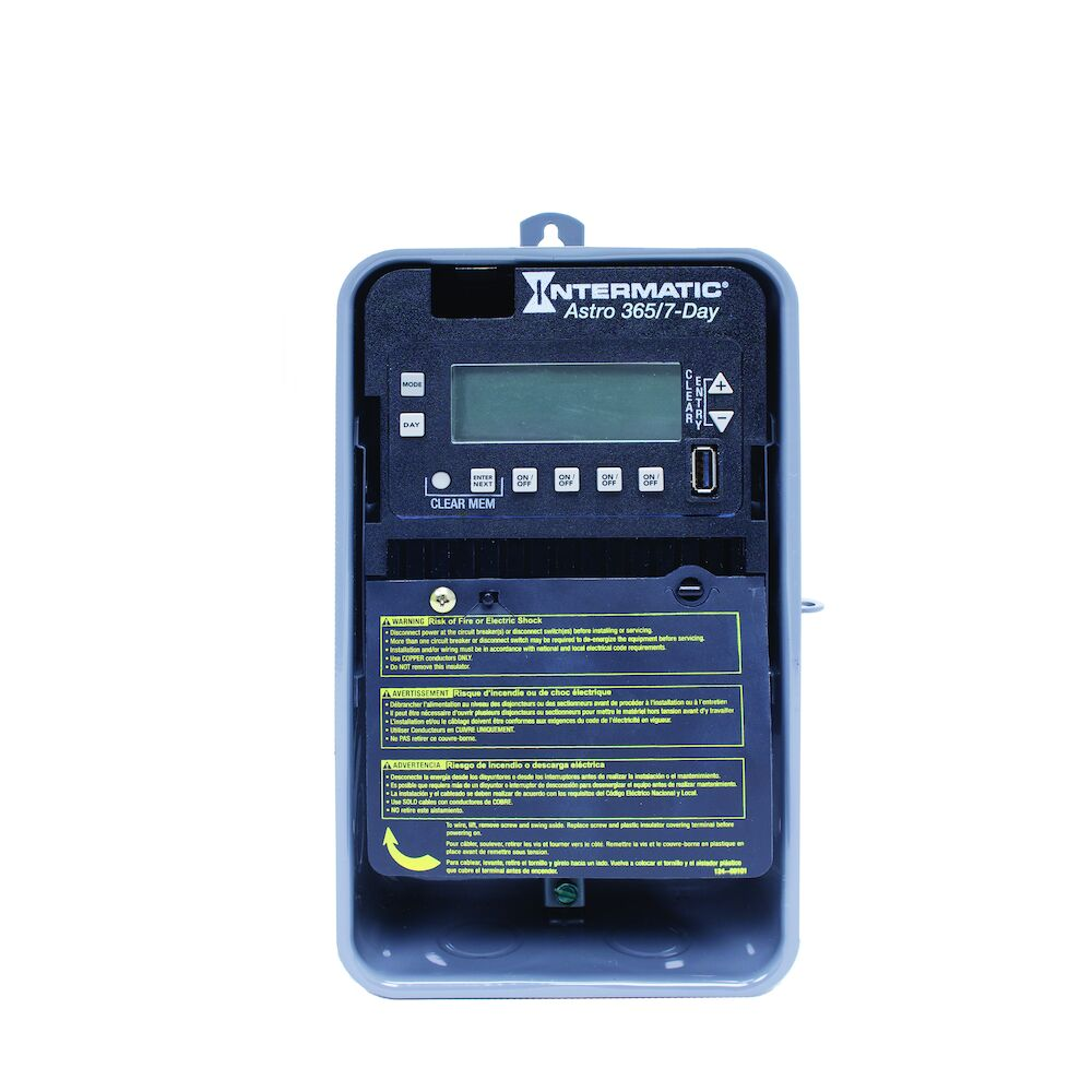 Astronomic 7-Day/365 Day 4-Circuit Electronic Control, 120-277 VAC, 60 Hz, 4-SPST/2-DPST, Outdoor Metal Enclosure redirect to product page