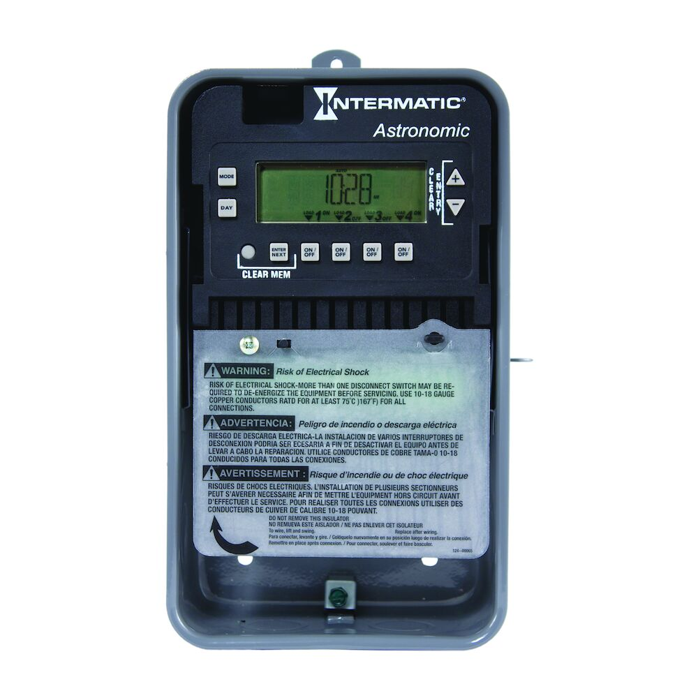Astronomic 7-Day 4-Circuit Electronic Control, 120-277 VAC, 60 Hz, 4-SPST, Outdoor Metal Enclosure redirect to product page