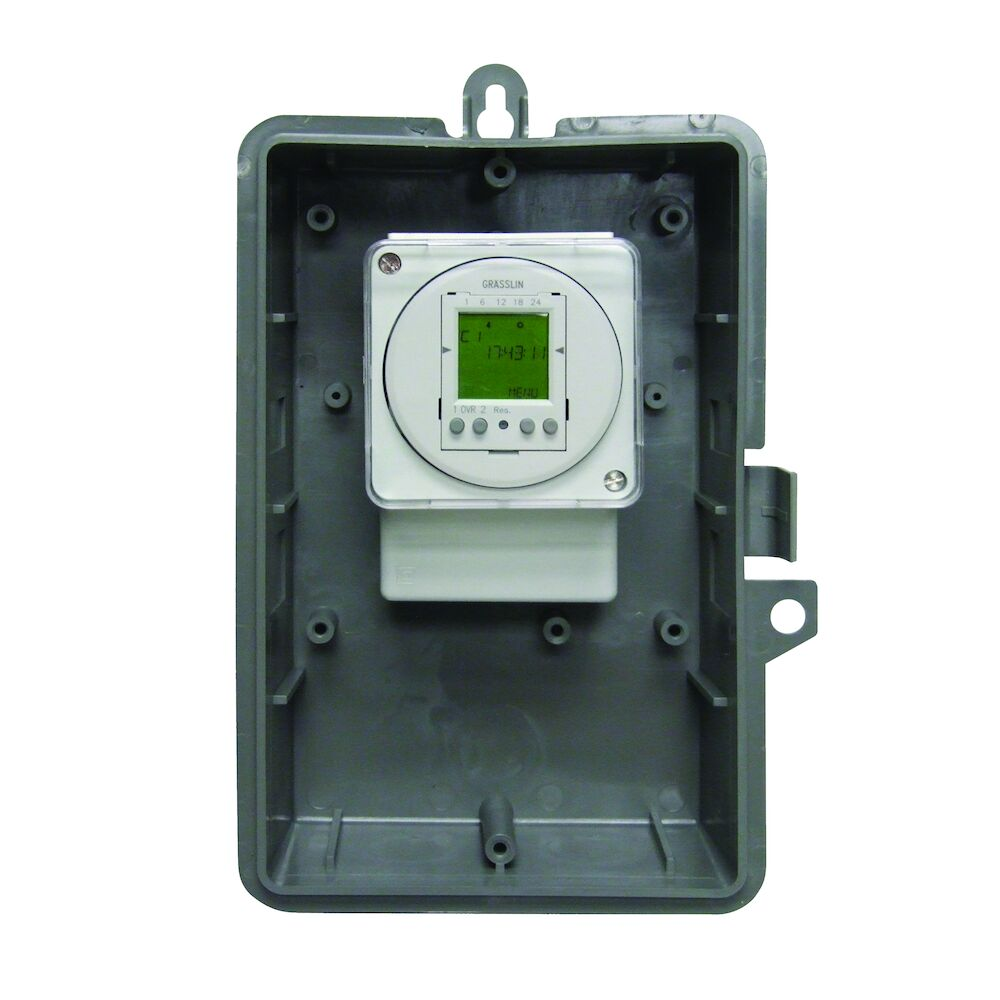 24-Hour or 7-Day 120V Electronic Time Control, 16A, 50 Setpoint Programs, 2-SPDT,Type 1 Indoor Plastic Enclosure redirect to product page