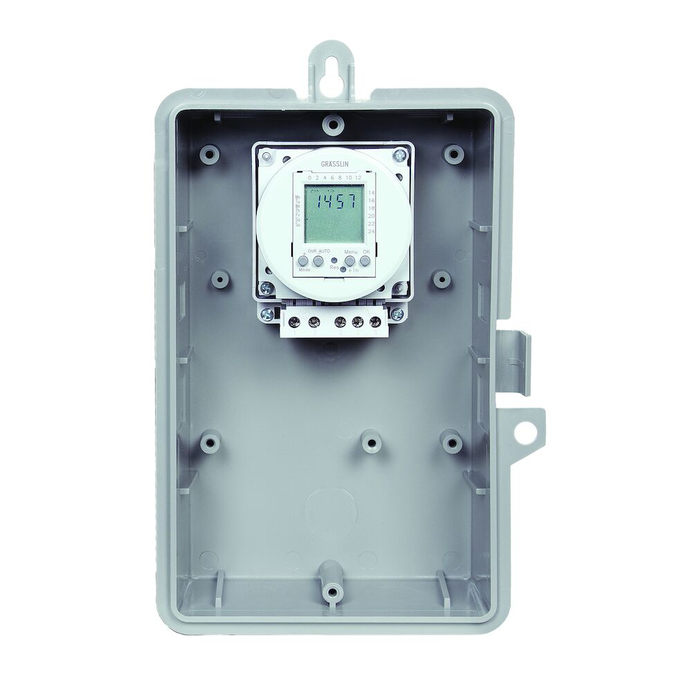 24-Hour or 7-Day 120V Electronic Time Control, 16A, 20 Setpoint Programs, SPDT, Type 1 Indoor Plastic Enclosure redirect to product page