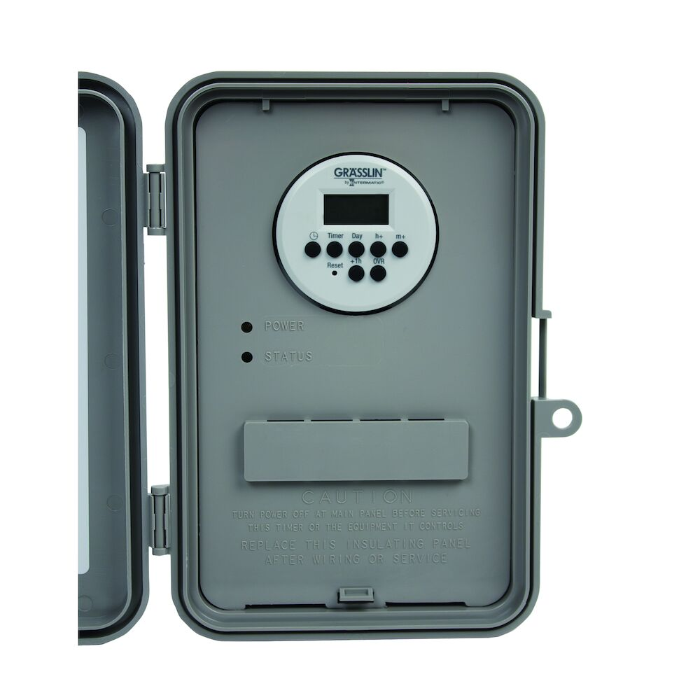 24-Hour or 7-Day 120-277V Electronic Time Control, 40A, Type 3R Outdoor Plastic Enclosure redirect to product page