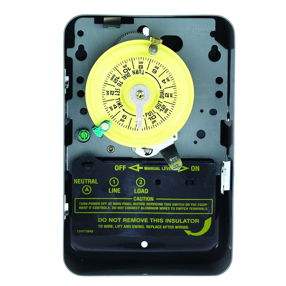 24-Hour Mechanical Time Switch, 208-277 VAC, 60Hz, SPST, Indoor Metal Enclosure, 1 Hour Interval redirect to product page