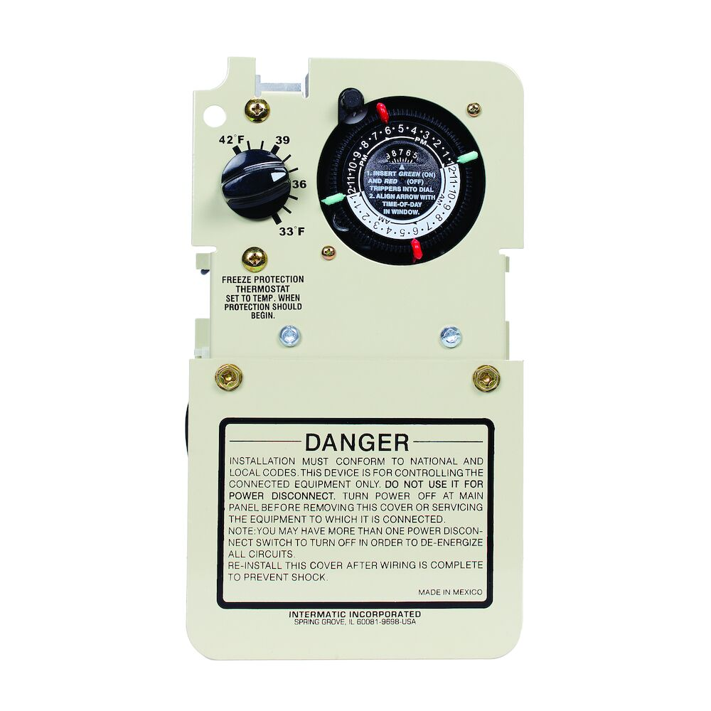 Freeze Protection Timer with Thermostat for 120/240V Applications, Mechanism redirect to product page