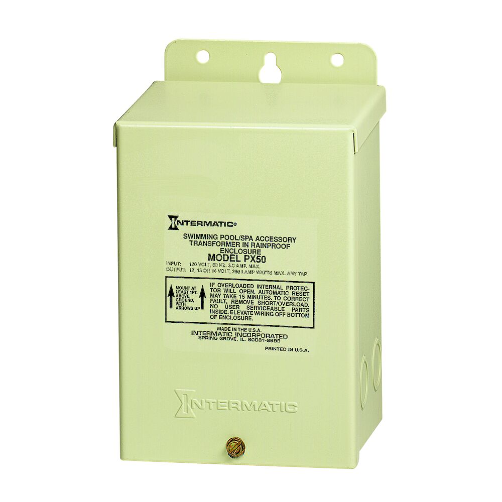 50 W Pool & Spa Safety Transformer, Beige Steel Enclosure, Input 120V, Output 12,13,14 V redirect to product page