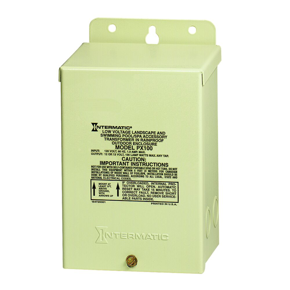 100 W Pool & Spa Safety Transformer, Beige Steel Enclosure, Input 120V, Output 12,13,14V redirect to product page