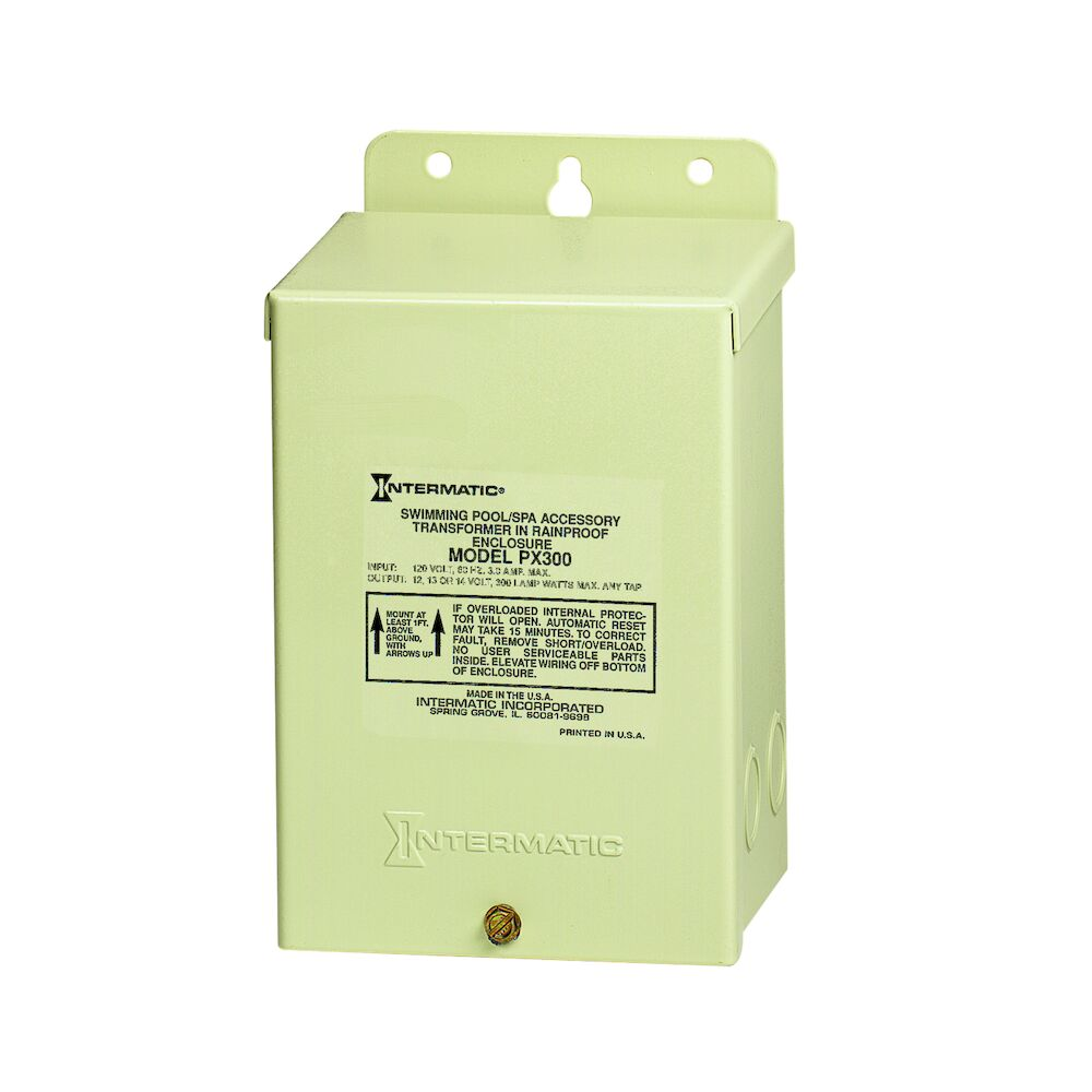 300 W Pool & Spa Safety Transformer, Beige Steel Enclosure, Input 120V, Output 12,13,14V redirect to product page