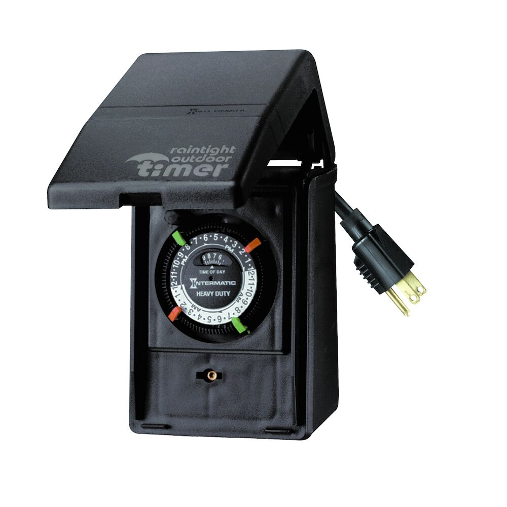 Outdoor Mechanical Plug-In Timer with Built-In Enclosure redirect to product page
