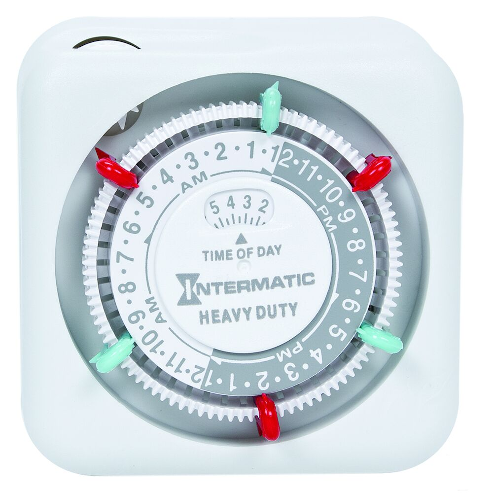 Heavy-Duty 24-Hour Indoor Mechanical Plug-In Timer redirect to product page