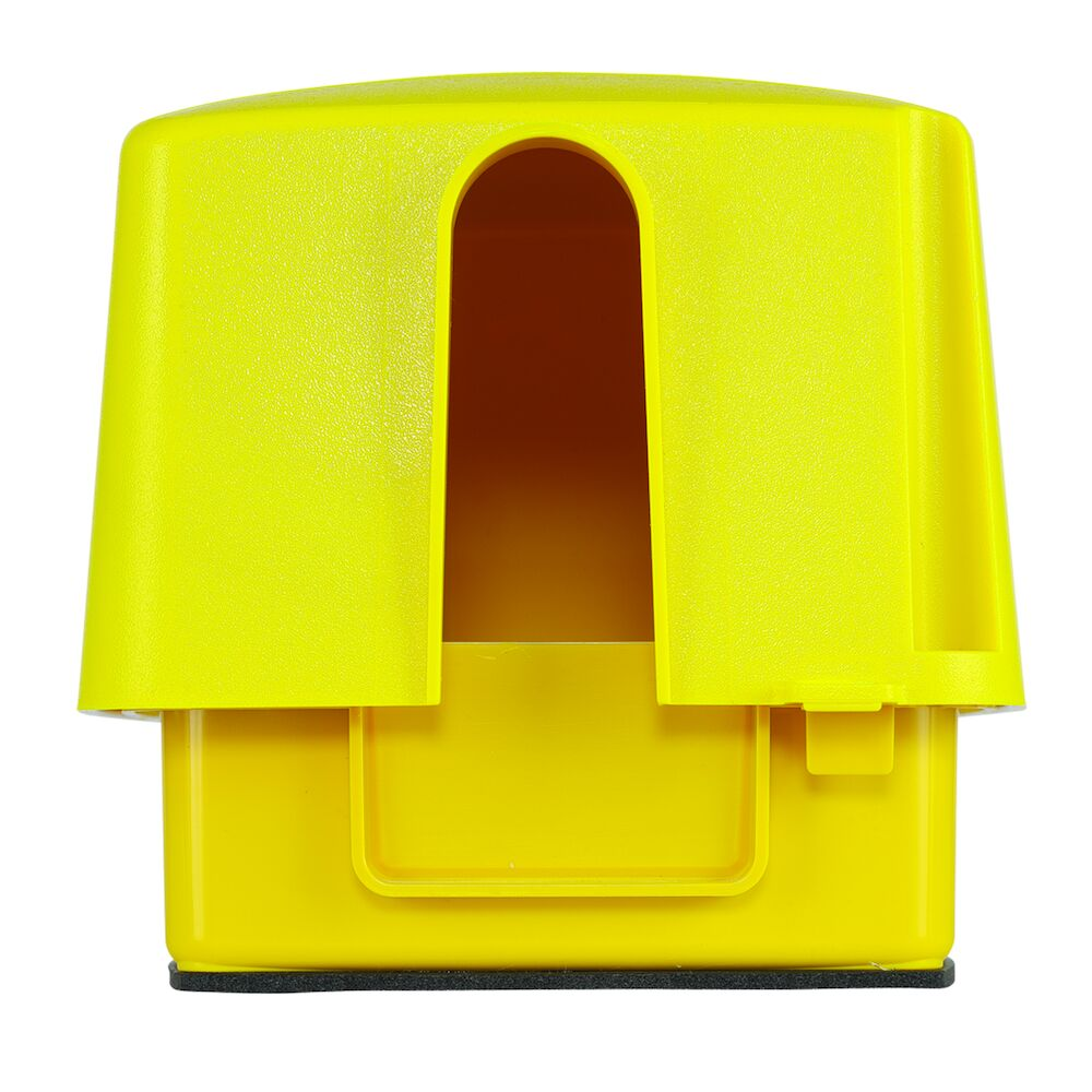 """Extra-Duty Plastic In-Use Weatherproof Cover, Double-Gang, Vrt, 4.75"""" Yellow redirect to product page"""
