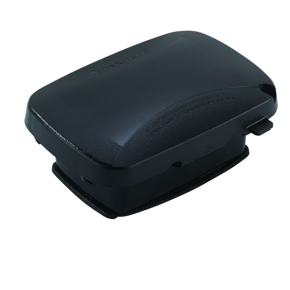"""Extra-Duty Plastic In-Use Weatherproof Cover, Single-Gang, Vrt/Hrz, 2.25"""" Black redirect to product page"""