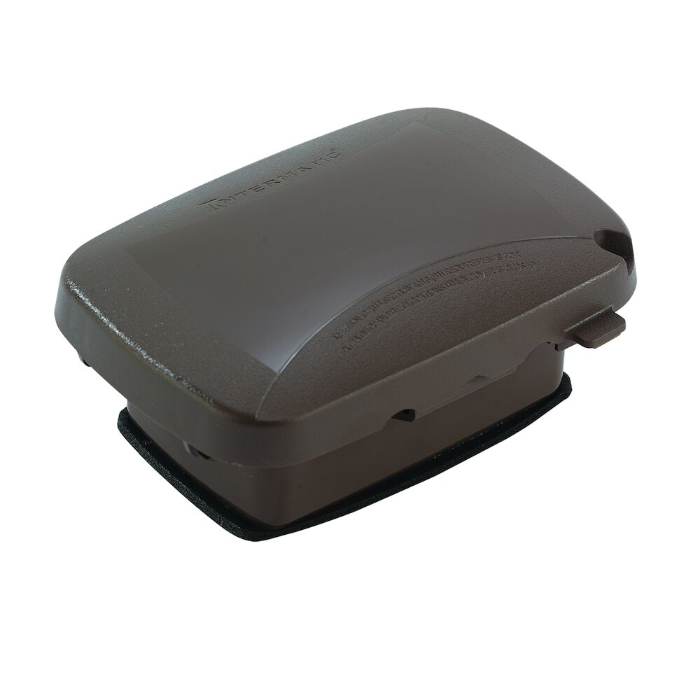 """Extra-Duty Plastic In-Use Weatherproof Cover, Single-Gang, Vrt/Hrz, 2.25"""" Bronze redirect to product page"""