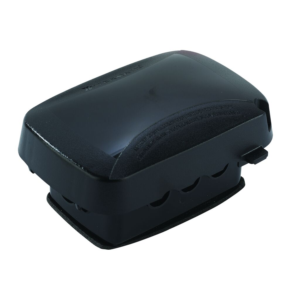 """Extra-Duty Plastic In-Use Weatherproof Cover, Single-Gang, Vrt/Hrz, 2.75"""" Black redirect to product page"""
