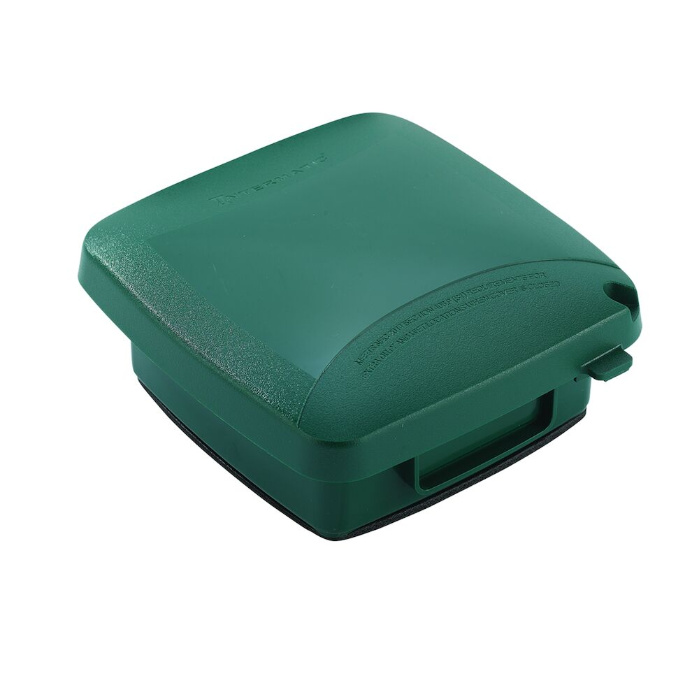 """Extra-Duty Plastic In-Use Weatherproof Cover, Double-Gang, Vrt, 2.25"""" Green redirect to product page"""