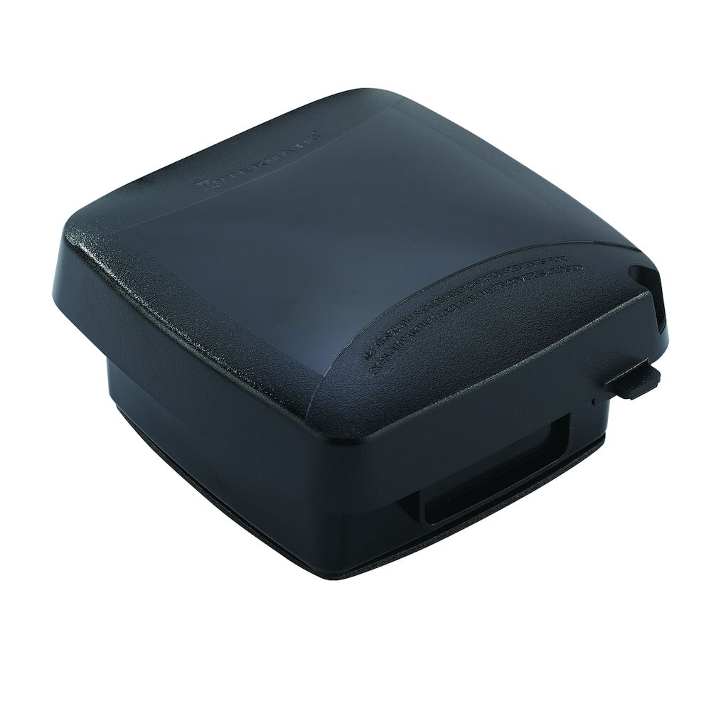 """Extra-Duty Plastic In-Use Weatherproof Cover, Double-Gang, Vrt, 2.75"""" Black redirect to product page"""