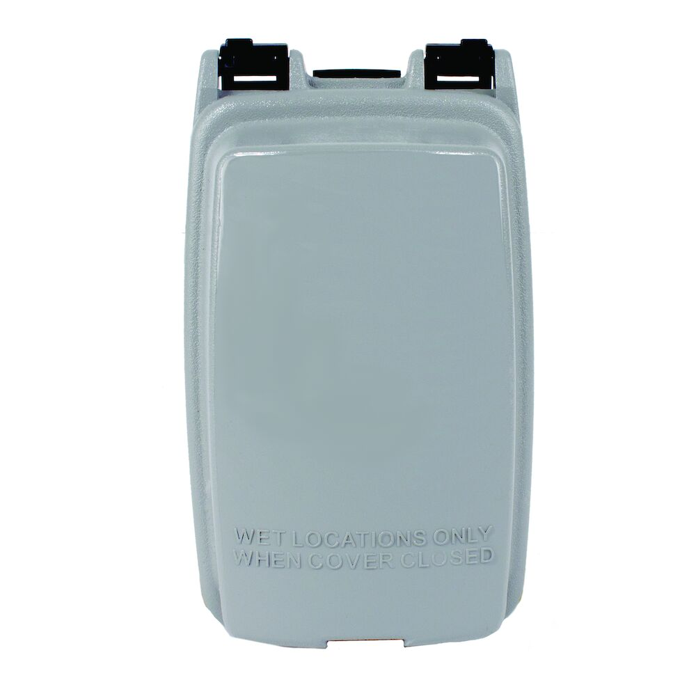 """Plastic In-Use Weatherproof Cover, Single-Gang, Vrt, 2.25"""" Gray redirect to product page"""