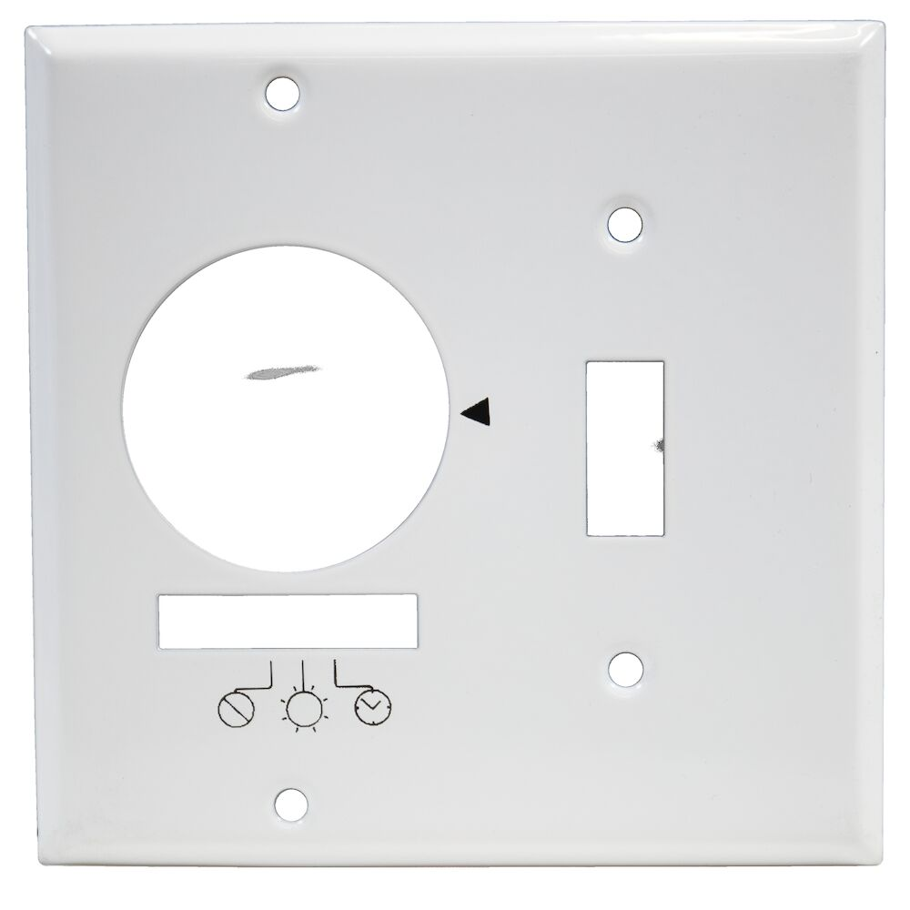 Wall Plate for KM2ST-2G, 2 Gang (Timer and Toggle Switch), White redirect to product page