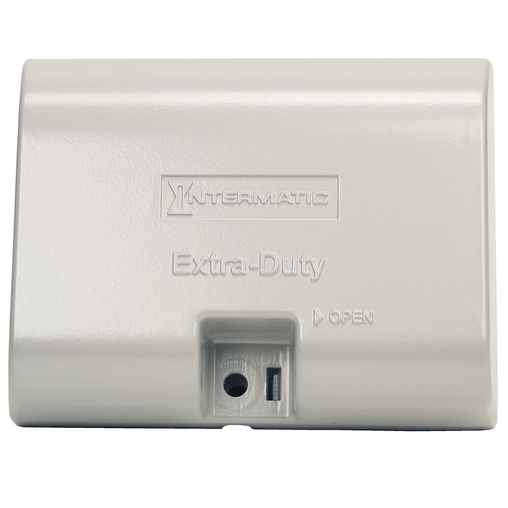 """Extra-Duty Die-Cast In-Use Weatherproof Cover, Single-Gang, Hrz, 3.125"""" Gray redirect to product page"""