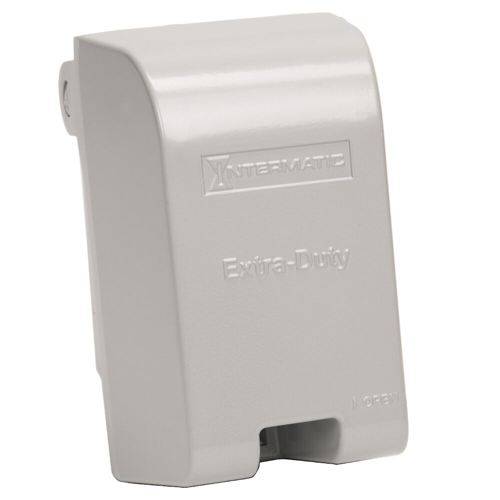 """Extra-Duty Die-Cast In-Use Weatherproof Cover, Single-Gang, Vrt, 4.625"""" Gray redirect to product page"""
