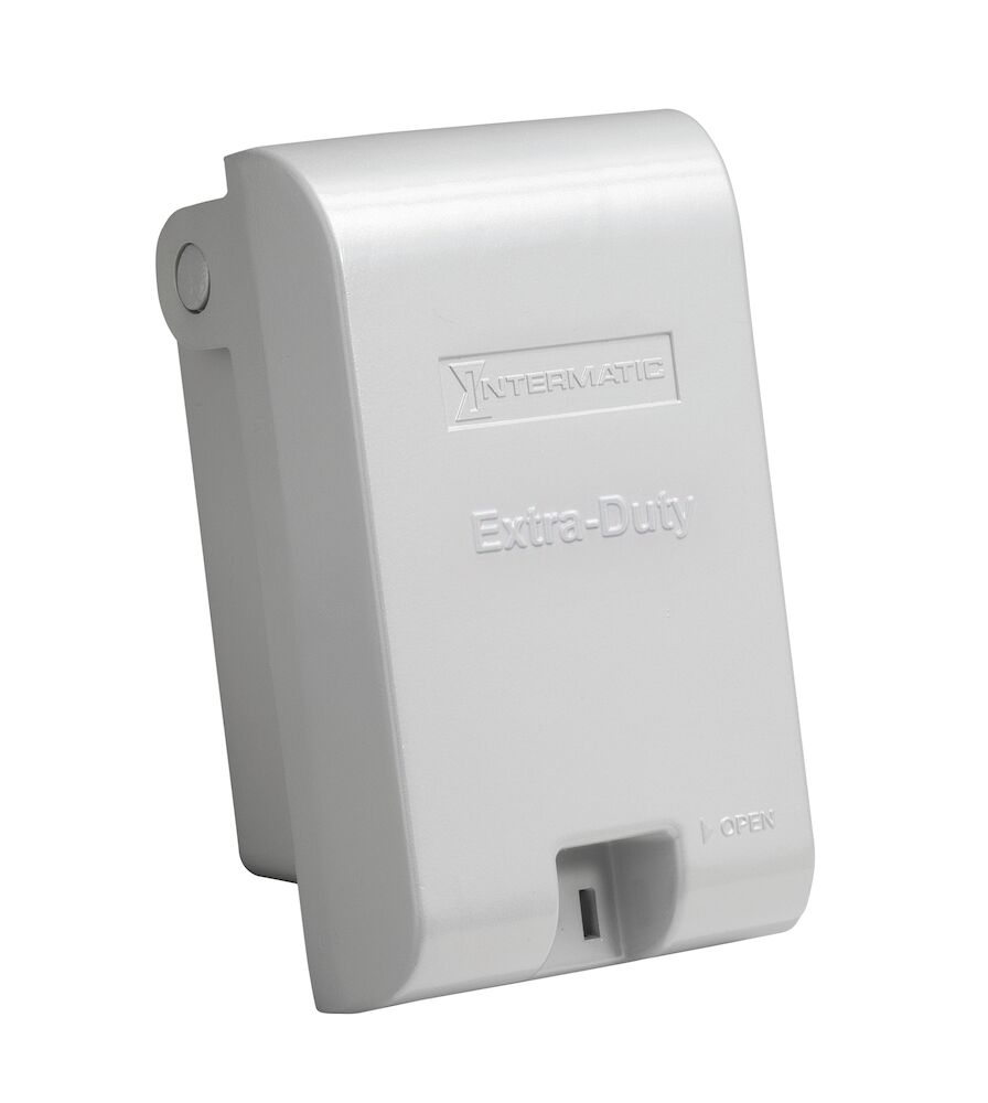 """Extra-Duty Die-Cast In-Use Weatherproof Cover, Single-Gang, Vrt, 2.75"""" Gray redirect to product page"""