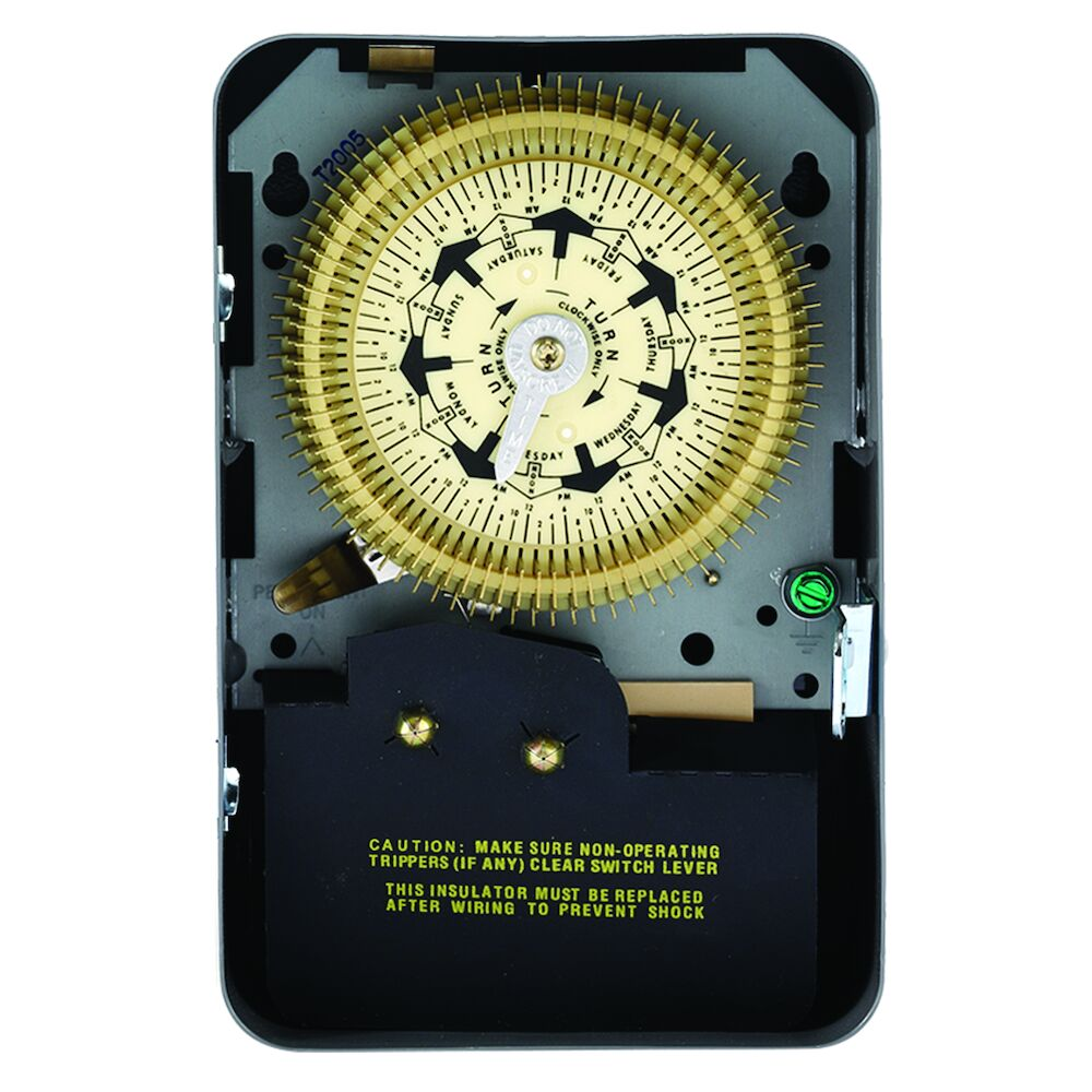 7-Day Mechanical Time Switch, 120 VAC, 60Hz, SPDT, Indoor Metal Enclosure, 2 Hour Interval redirect to product page