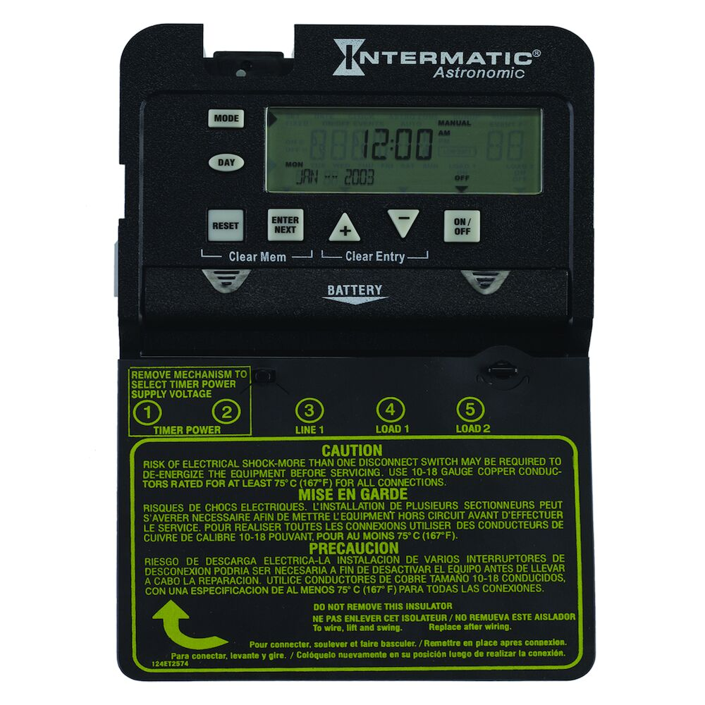 Astronomic 7-Day 1-Circuit Electronic Control, Mechanism Only, 120-277 VAC, 60 Hz, SPDT redirect to product page