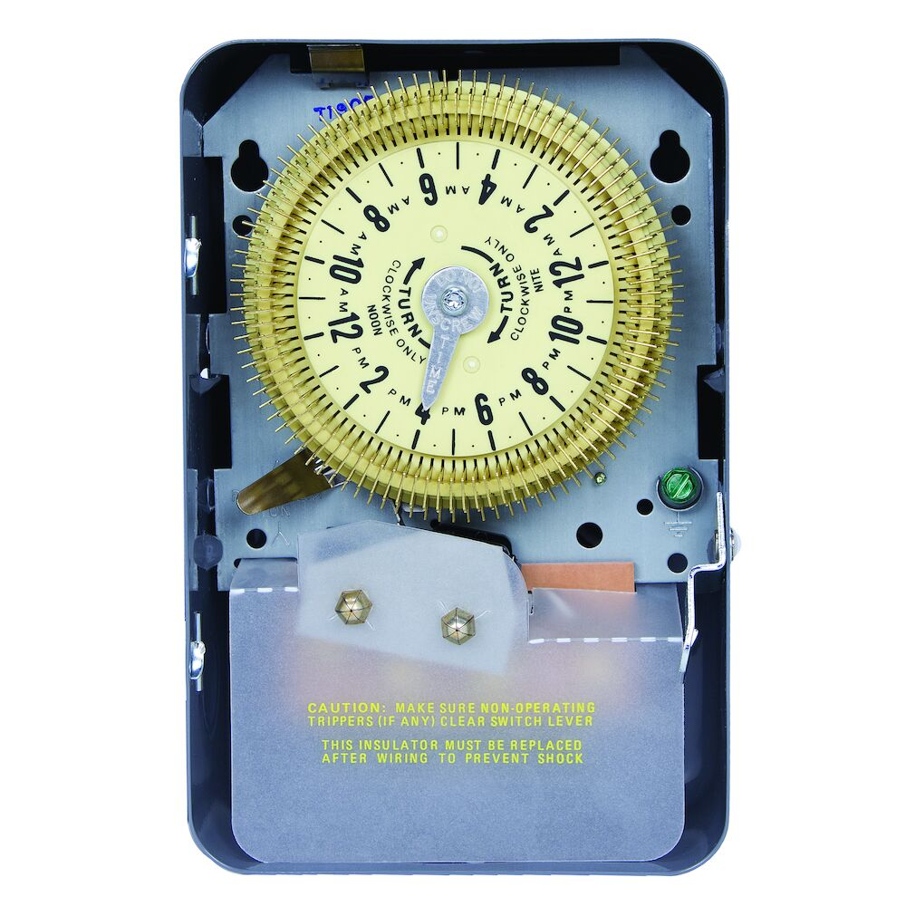 24-Hour Mechanical Time Switch, 125 VAC, 60Hz, SPDT, Indoor Metal Enclosure, 15 Minute Interval redirect to product page
