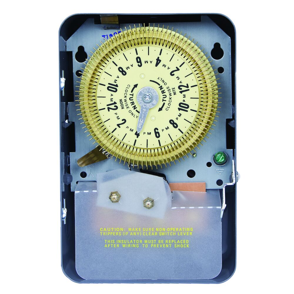 24-Hour Mechanical Time Switch, 480 VAC, 60Hz, SPDT, Indoor Metal Enclosure, 15 Minute Interval redirect to product page