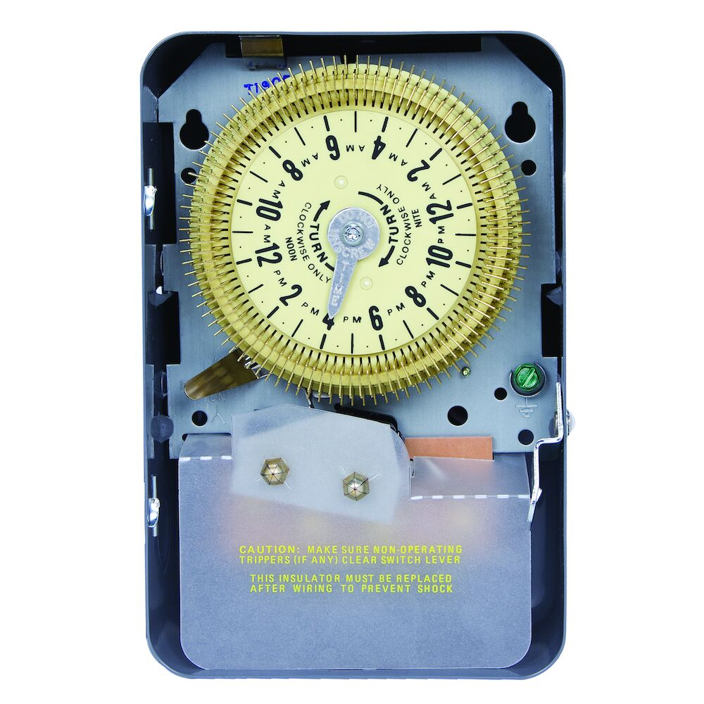 24-Hour Mechanical Time Switch, 208-277 VAC, 60Hz, SPDT, Indoor Metal Enclosure, 15 Minute Interval redirect to product page