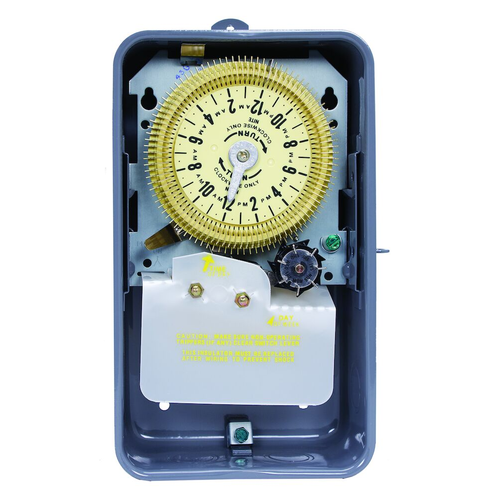 24-Hour Mechanical Time Switch with Skip-a-Day, 480 VAC, 60Hz, SPDT, Outdoor Metal Enclosure, 15 Minute Interval redirect to product page