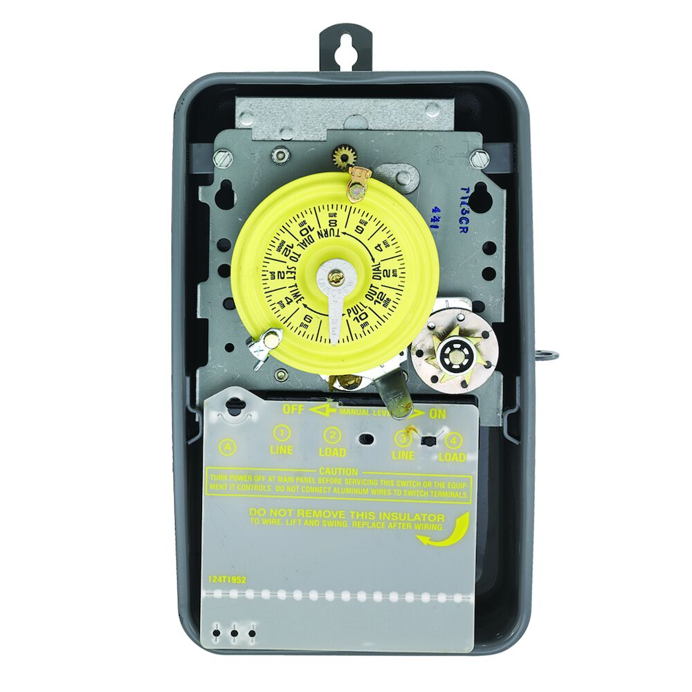 24-Hour Mechanical Time Switch with Skip-a-Day, 120 VAC, 60Hz, DPST, Outdoor Metal Enclosure, 1 Hour Interval redirect to product page